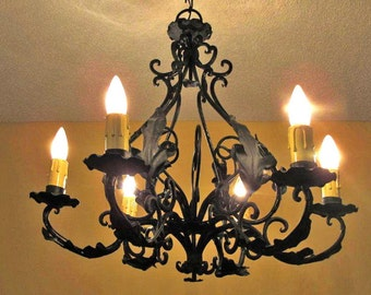 Wrought iron chandeliers top wrought iron chandeliers uk u wrought iron lights etsy with wrought iron chandeliers aloadofball Image collections