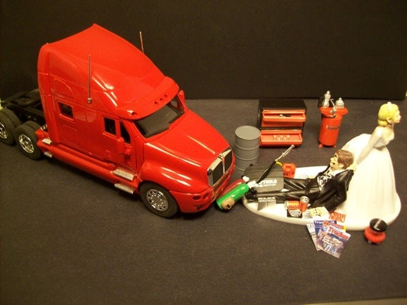 semi truck wedding cake toppers auto mechanic k amp w kenworth t 2000 tractor trailer by 19742
