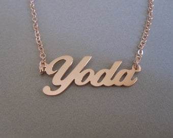 Personalized Rose Gold Name Necklace