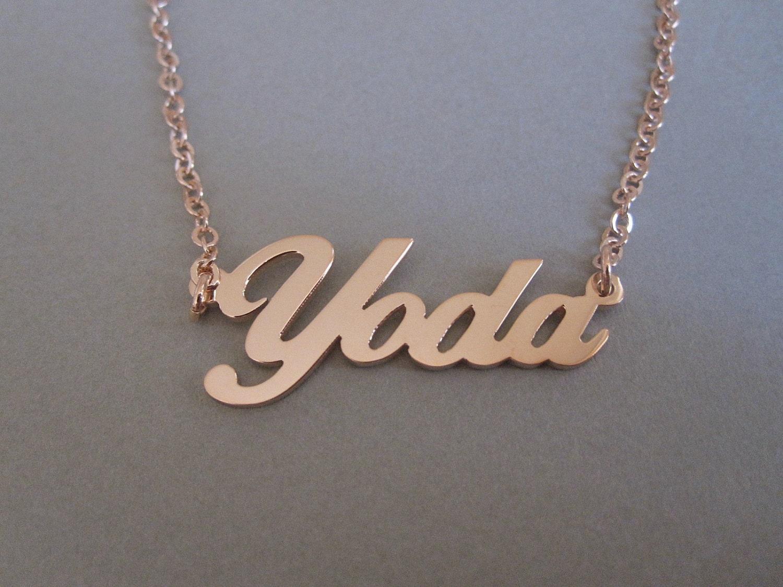personalized rose gold name necklace. Black Bedroom Furniture Sets. Home Design Ideas