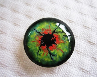 Zombie eyes 25mm glass eyes for jewelry making or crafts