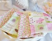 Designer Fabric Baby burp cloths - Farm animals