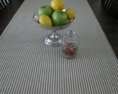 Ticking Stripe Table Runner in Navy
