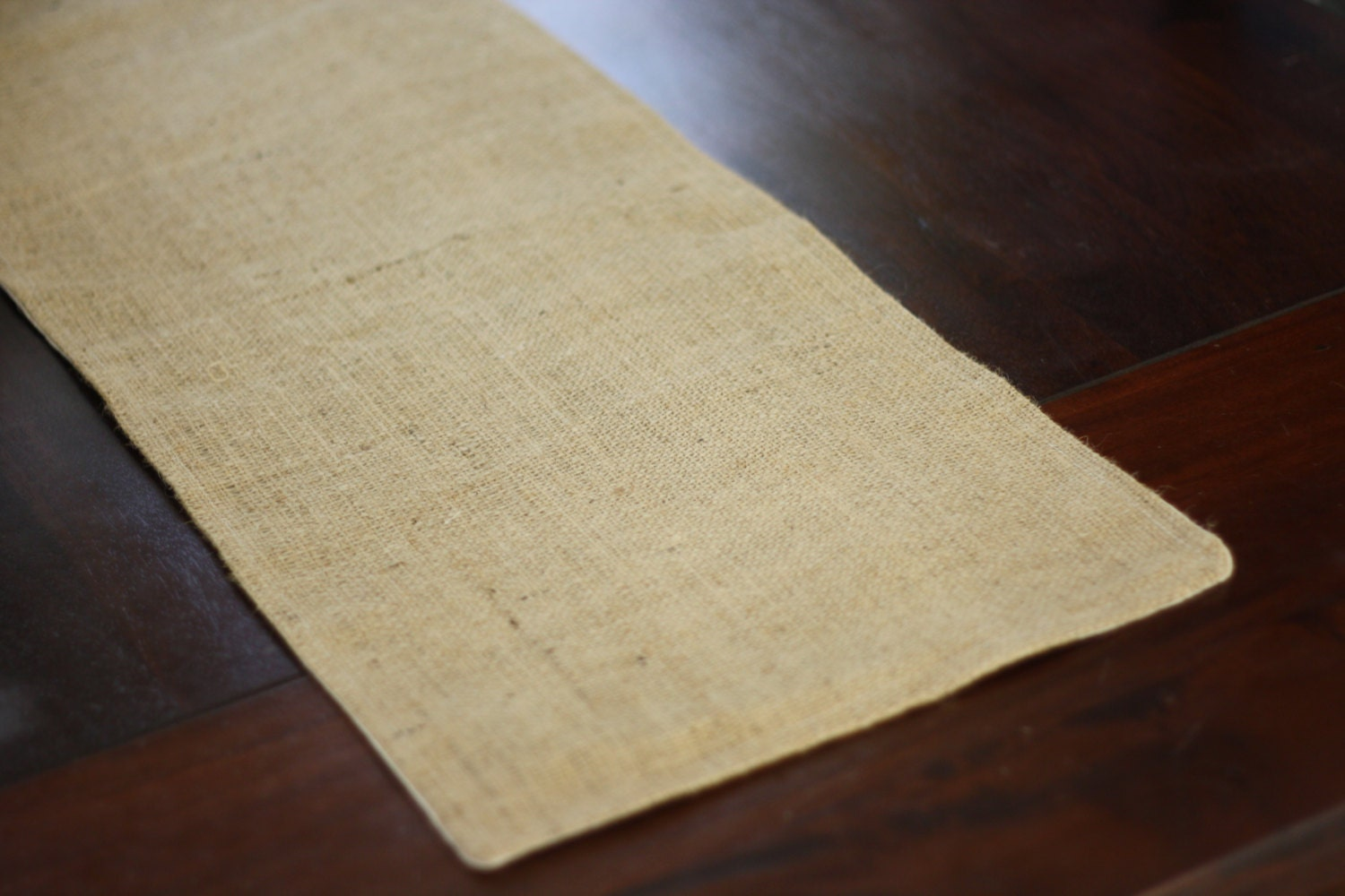 Burlap table runner fully lined and reversible with by for 12 foot table runner