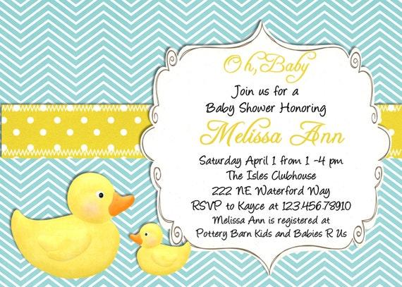 Rubber Ducky Invitations was perfect invitation design