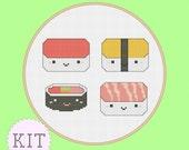 Counted Cross Stitch KIT Cute Sushi