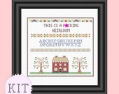 Cross Stitch KIT Heirloom Sampler