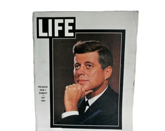 "Vintage Life Magazine President John F. Kennedy - ""The Assassination of President Kennedy""  Vol. 55, No. 22 - November 29, 1963"