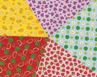 Fruit Pattern Origami Paper - 20 Sheets