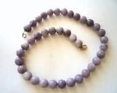 Lilac Stone semiprecious stones ,necklace.