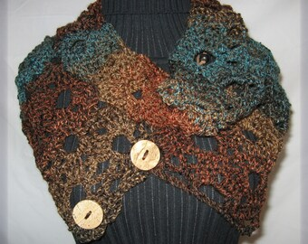 Convertible Infinity Scarf  Crochet Pattern - PDF file pattern