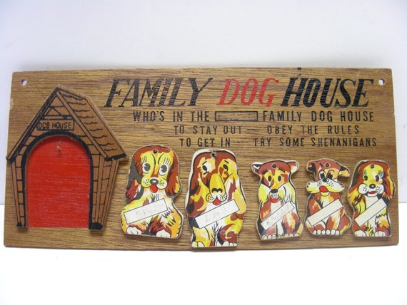 In The Dog House Plaque Original  S