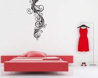 Flourish Embellishment Swirl, Wall Art, Vinyl Decal, Wall decal, Vinyl Sticker, Old World Home Decor