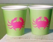 72 Color Choices - Crab Paper Party Cups - Set of 12