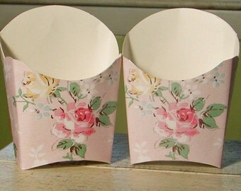 Shabby Chic Vintage Roses Favor Box - Set of 12