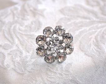 Vintage Bubble Rhinestone Brooch Pin