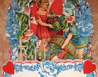 Vintage Valentine Card  As Is