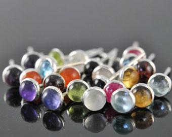 SPECIAL - Birthstone earrings, stud, sterling silver, post, earrings, gift idea
