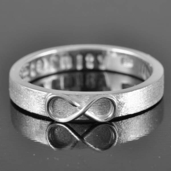 infinity ring knot best friend promise personalized