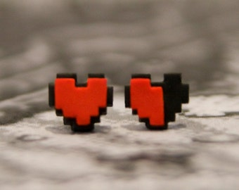 Zelda Heart 8-BiT Earrings