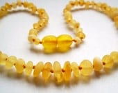 BEST OFFER .Honey Baltic  Amber  Baby Teething Necklace. Maximum effective Raw unpolished anber beads.