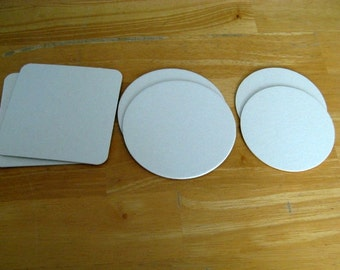 Blank Coaster Sample Pack Three Different Sizes Total 6 Coasters