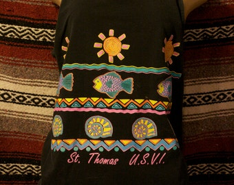 vintage tropic tank shirt