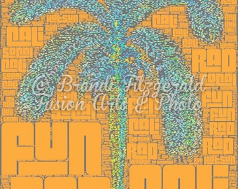 Cali Palm Tree : Lustre FineTypography