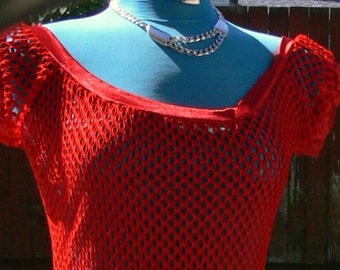 red steam punk  see thur dress size med bust 36