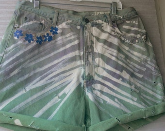 steam punk dyed shorts plus size woman 18