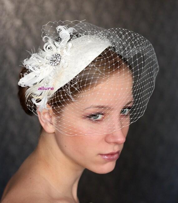 Items similar to BIRDCAGE VEIL vintage style wedding ...