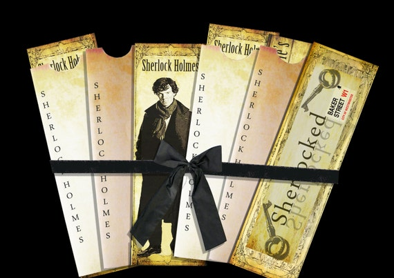Three Sherlock Holmes Benedict Cumberbatch bookmarks and envelope digital collage sheet. DIGITAL DOWNLOAD
