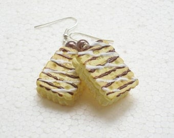 Big Cookie Earrings. Polymer Clay