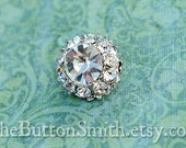 Rhinestone Buttons -Leah- (18mm) RS-015 - 5 piece set