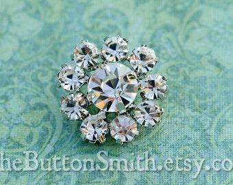 "Rhinestone Buttons ""Sophia"" (23mm) RS-016 - 5 piece set"