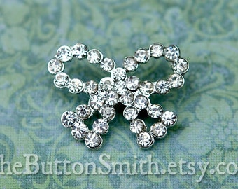 Rhinestone Buttons -Belle- (19x21mm) RS-053 - 5 piece set