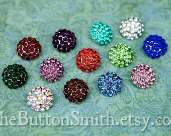 Rhinestone Buttons Mix - 109 - 26 piece set