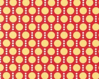 Fat Quarter Fabric for quilt or craft Robert Kaufman Roughing It by Laurie Wisbrun Dots in Red