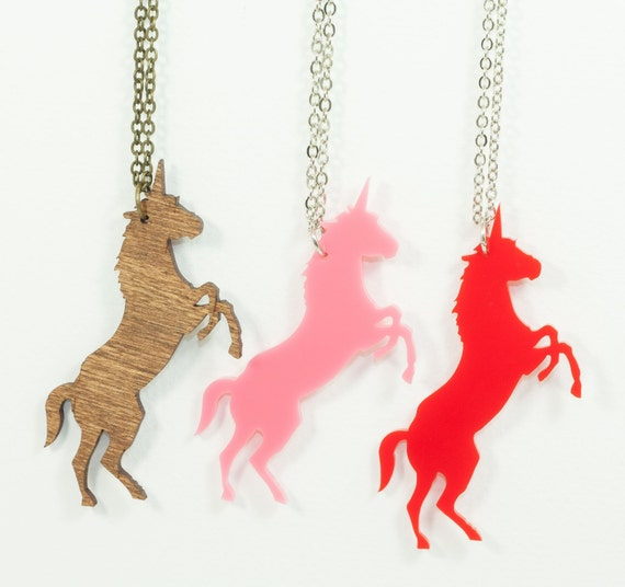 Unicorn Necklace - Handmade - Laser Cut