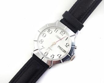 Vintage Slava WATCH with black wrist band 21 jewels