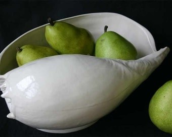 Baler Shell Bowl - Large Porcelain Serving Bowl
