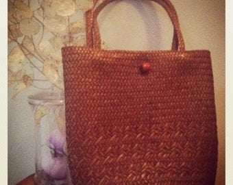 Straw bag '70 style