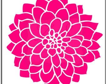 red zinnia flower clip art
