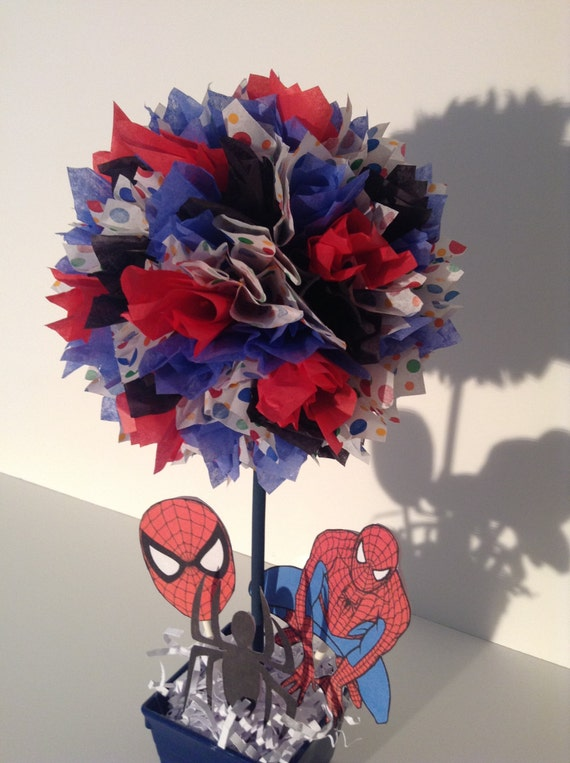 AlishaKayDesigns Spiderman Birthday Party Decoration Centerpiece