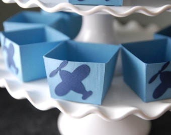 Airplane Candy Cups, Airplane Party Supplies, Airplane Birthday, Airplane Baby Shower, Airplane Decorations, Blue Navy 12 Pcs