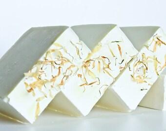 Chamomile Calendula Castile Soap - LARGE 7oz bar, 100% Olive Oil, Baby Soap