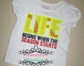Life Begins When The Season Starts Embroidered Shirt