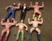 Vintage Action Figures Famous Wrestlers