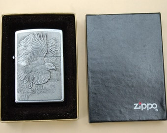REDUCED  Zippo American Eagle Raised Eagle Lighter NEW in Box