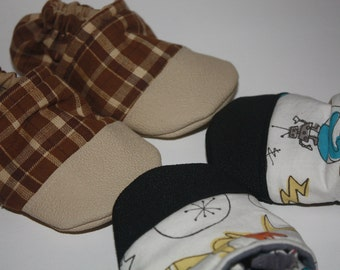 Add on toe scuff baby booties, heel scuff, slippers, shoes, non slip
